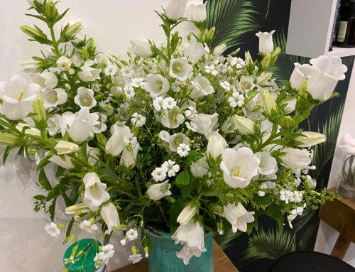 Bouquet blanc printanier