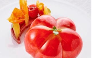 Dessert : la Tomate Coeur de Boeuf en trompe l'oeil du Chef Patissier Jimmy Mornet, Park Hyatt Vendôme Paris