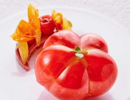 La Tomate Coeur de Boeuf en trompe l'oeil de Jimmy Mornet (Park Hyatt Paris Vendôme)
