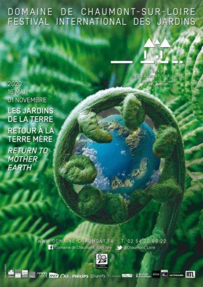 Affiche du 29ème édition du Festival International des Jardins de Chaumont-sur-Loire