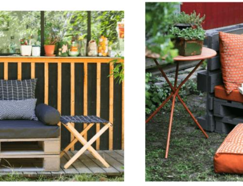 Canapés palettes pour une terrasse cosy