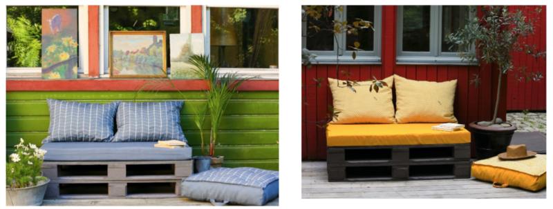 Canapes Palettes Pour Une Terrasse Cosy Paris Cote Jardin