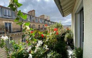 En été sur mon balcon parisien, Paris 19e (75)