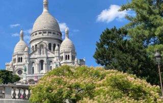 Basilique du Sacré Coeur en été sur la Butte de Montmartre, Paris 18e (75)