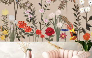 "Décor mural ""Bouquet de fleurs"", MlleMounsPaper"