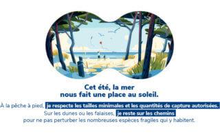 La mer, visuel de la campagne L'été de la biodiversité, OFB