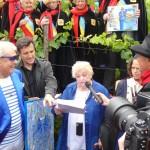 Perrette Souplex, comédienne et citoyenne d'honneur de la République de Montmartre, Clos Montmartre, Paris 18e (75)