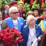 Michou et Perrette Souplex au baptême de la rose République de Montmartre, Clos Montmartre, Paris 18e (75), 18 juin 2011, photo Alain Delavie