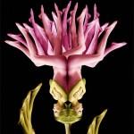 Fleur composée de corps humains